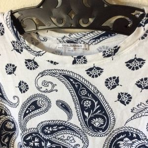 Zara Tops - ZARA TRAFALUC Bandana Print Tee Shirt